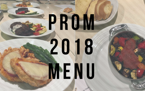 2018 Prom Menu released