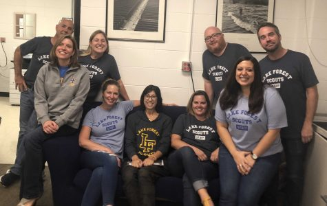 English Department Members rock their new staff shirts