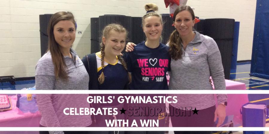 Girls' Gymnastics Celebrates Senior Night with a Win