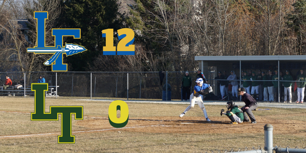Lake Forest's Colton Pfeifer steps into his swing in the third inning of play.