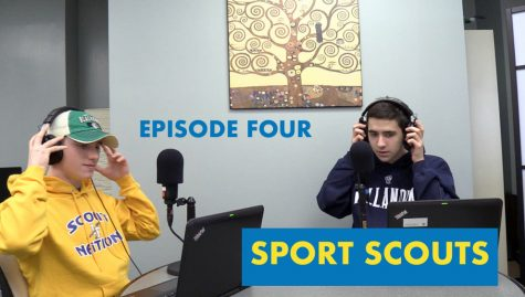 Goodsir and Raupp put on the headphones for the first episode of the podcast with a video version available.