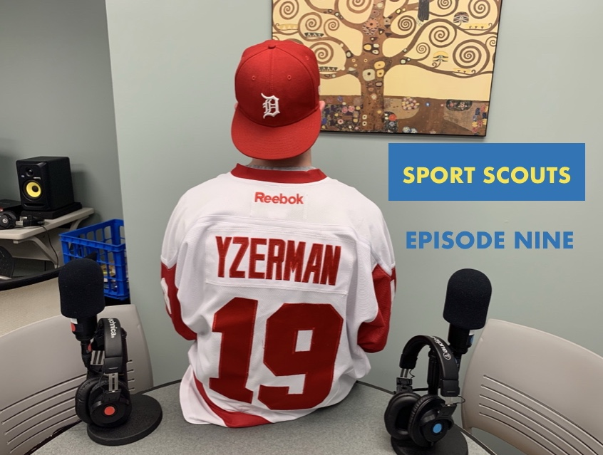 More clothes worn to celebrate the recent sports headlines - this time Joey Goodsir joins Raupp with his Steve Yzerman jersey. Yzerman was hired to be the Detroit Red Wings' new GM Friday, returning to his career-spanning home as a player.