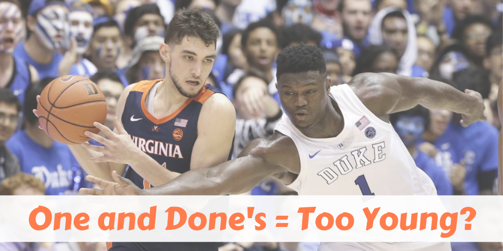 Virginia's Ty Jerome shields the ball away from Duke's Zion Williamson.