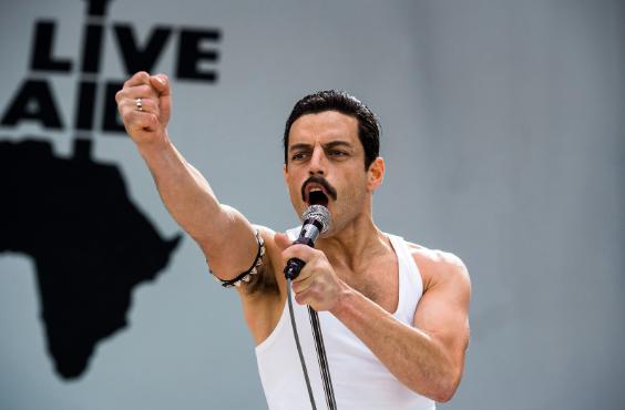 """Rami Malek stars as Queen lead singer Freddie Mercury in 2018's """"Bohemian Rhapsody""""."""