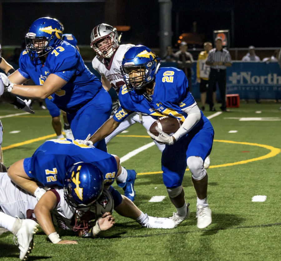 Sophomore running back Jahari Scott is expected to have another great performance this week, after rushing for 119 yards and scoring the Scouts' only touchdown in last week's 10-7 victory.