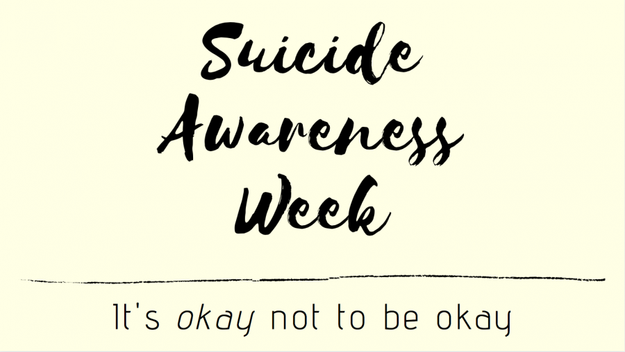 Today marks the end of Suicide Awareness Week. Suicide is a third leading cause of death for American teenagers.
