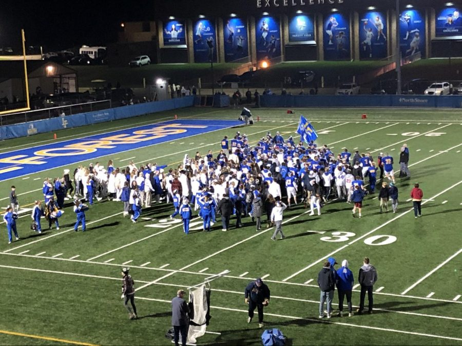 The most faithful of Scout Nation storms the field as Lake Forest upsets the Patriots twice in a row for the first time in...well...anyone's memory.