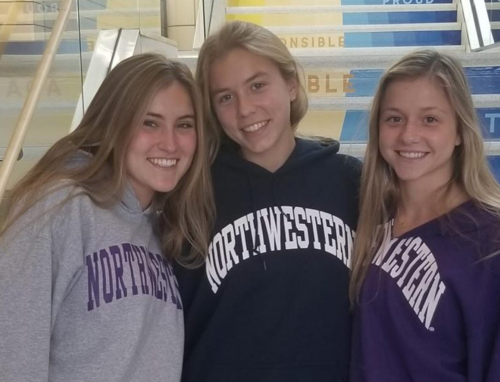 From left to right, Bridget Mitchell, Ingrid Falls, and Nicole Doucette will all continue their soccer and academic careers at Northwestern University next Fall.