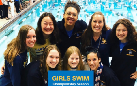 From top to bottom, left to right: Lauren Kingsley, Ashley Updike, Kendra Joachim, Carolyn Grevers, Isabella Lewin, Mary Grace King, Emma Darling, Julia Tanna. The IHSA State Meet was Nov 23 and 24 at New Trier.