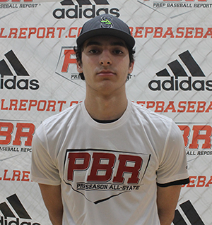 Vallone at a PBR event in February. The lefty compiled an ERA below 2 in his first two varsity seasons.