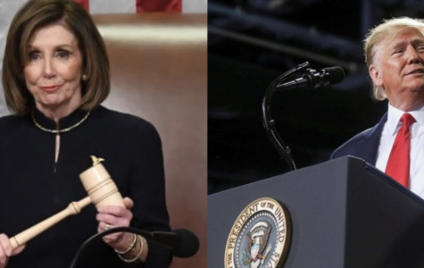 House Speaker Nancy Pelosi gavels in the vote for the first article of impeachment in the House of Representatives. Meanwhile, President Trump speaks at a rally in Battle Creek, MI.