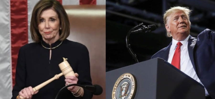 House+Speaker+Nancy+Pelosi+gavels+in+the+vote+for+the+first+article+of+impeachment+in+the+House+of+Representatives.+Meanwhile%2C+President+Trump+speaks+at+a+rally+in+Battle+Creek%2C+MI.