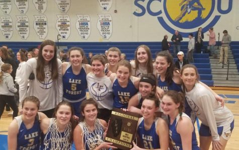 The Scouts after winning their third Regional championship in four years, 51-46, over Stevenson on Friday, February 21, 2020.