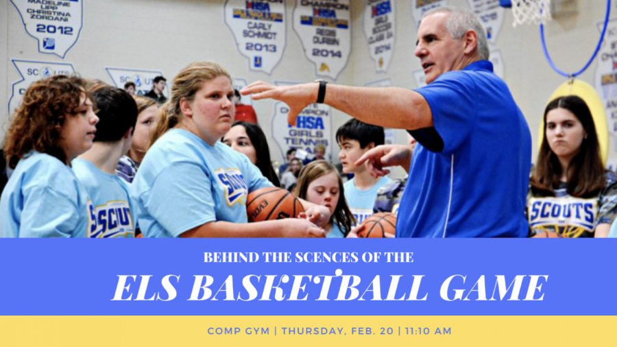 Coach+Chuck+Spagnoli+leads+the+ELS+Basketball+team.