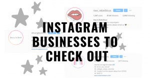 Shop These Small Businesses On Instagram
