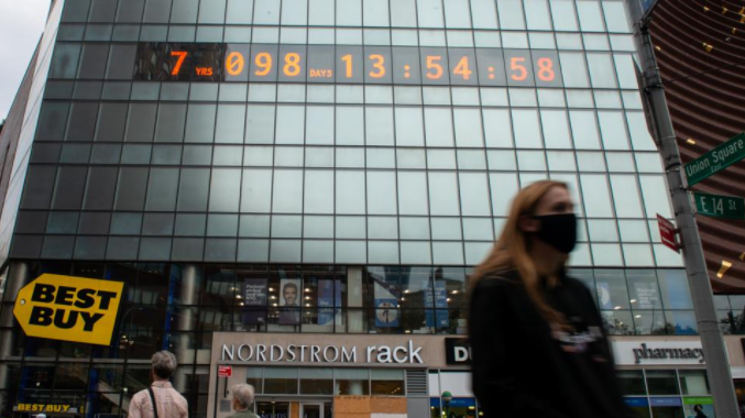 Time is Ticking: The Manhattan Union Clock Predicts Earth's Deadline