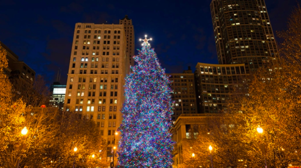 45-Foot-Tall Tree to Spread Holiday Cheer Across Chicago