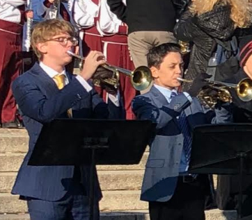 Koen Brown and Isaac Poulton, the trumpeters