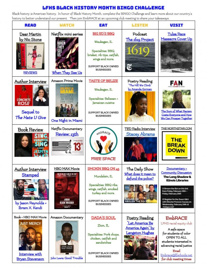 Play the Black History Month Bingo Challenge
