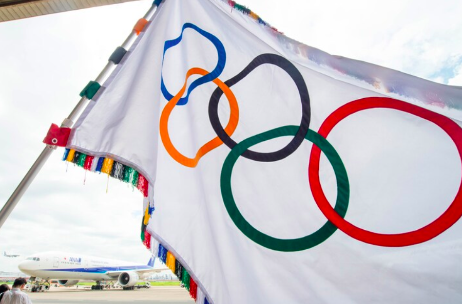 The iconic Olympic Games flag, a worldwide symbol of unity (source: olympic.org)