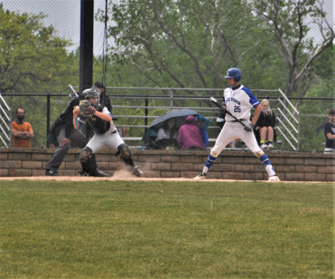 Senior catcher Rocco Royer throwing out Lake Zurich runner during the 4th inning on Tuesday